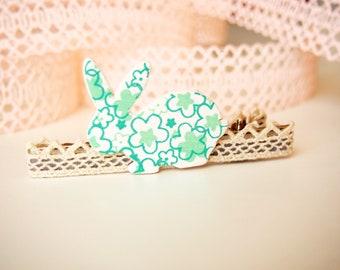 Easter Bunny Hair Clip, Toddler Easter Hair Clip, Easter Hair Accessories, Bunny Hair Clip, Easter Girl Gift, Easter Girl Toddler, Modern