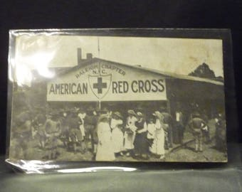 Antique Red Cross Chapter of Raleigh, N.C. Post Card- 1918 postmark