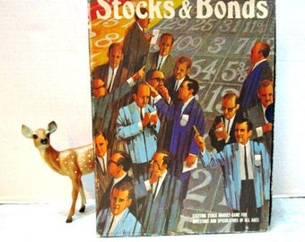 Vintage Stocks and Bonds Stock Market Game, 3M Bookshelf Games Series 1974, Wall Street Investor, Decor Stage Prop, Board Game Collectors