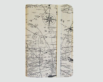 Kindle Cover Hardcover, Kindle Case, eReader, Kobo, Kindle Voyage, Kindle Fire HD 6 7, Kindle Paperwhite, Nook GlowLight Flight Map