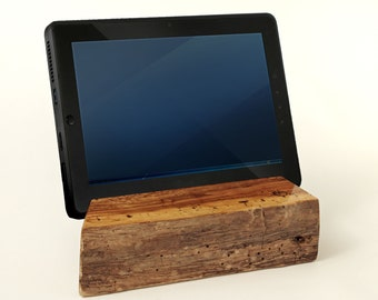 TB003 Live Edge Tablet Stand, Spalted Cherry
