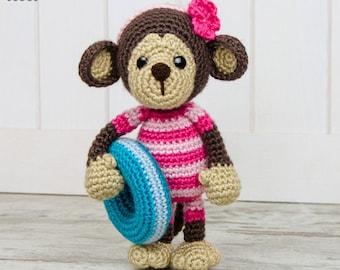 Lily the Baby Monkey Amigurumi - PDF Crochet Pattern - Instant Download - Amigurumi crochet Cuddy Stuff Plush