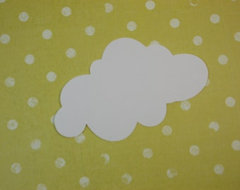 "Large Cloud Cutouts, White Cloud Die Cuts, 4"" x 2.5"" Party Decoration, DIY Crafts, 30 Ct."