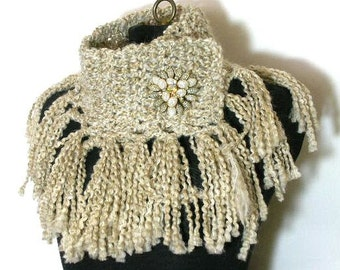 The Fringe Scarflette Crochet Pattern PDF -  permission to sell what you make