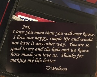 Personalized Wallet Insert Card-Free Shipping