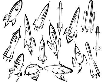 Space, Rocket, Spaceship, Rocket ship, Rocketship, Rockets, Spacecraft, SVG,Graphics,Illustration,Vector,Logo,Digital,Clipart