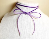 Lariat Necklace, Purple C...