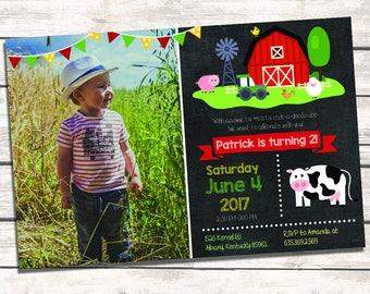 Little Farm Birthday Invitation