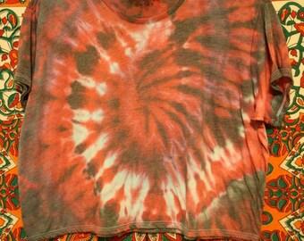 Flowy Spiral Tie-dye Crop Top