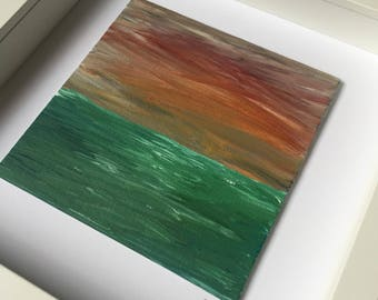 Original framed painting by Zoey Devaney - Peaceful, 2017