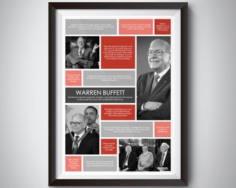 Warren Buffett Quote Wall Art; Digital Download; inspirational quote print for motivation and success