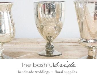 Silver wedding, silver vase, etched mercury glass, silver mercury glass vase, pedestal vase, three styles