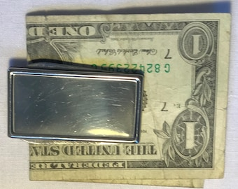 Silver Knife And File Money Clip