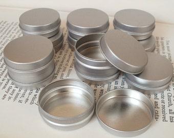 Small Metal Tin, 15ml Blank Round Silver Colour, Small Storage Box