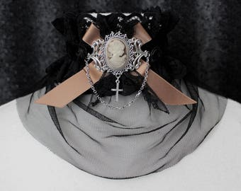 Choker ' ' Gold lady ' ', Victorian, goth, costume, medieval