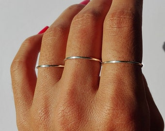 3 SILVER PLATED Midi Rings ,Waterproof/ Above Knuckle Rings, Set of 3/Simple Jewelry/Midi Ring Set/Adjustable Chevron Ring /Midi Ring.