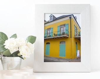Original Fine Art Print: Yellow Building - New Orleans, Louisiana