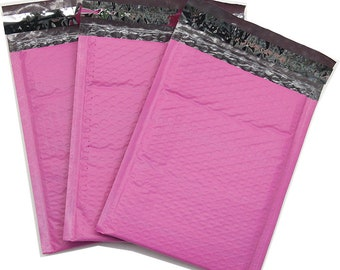 100 #0 Pink Poly Bubble Mailer Shipping Envelope Bags