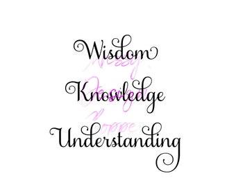 Wisdom Knowledge Understanding SVG