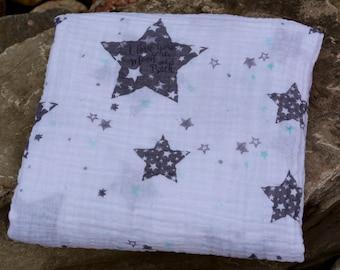 Swaddle Blanket/ Double Gauze Blanket/ Muslin Baby Blanket/ Double Gauze Swaddle/ Baby Shower Gift