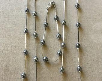Vintage Monet silver tone jewelry set