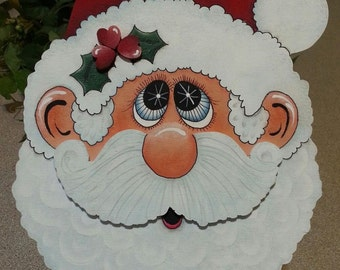Santa Cookie Jar Lid