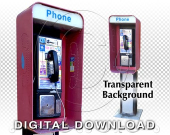 Phone Booth Clip Art Photos | PNG Stock Photos | Red Pay Phone Booth Avon Colorado | Stock Photography | Small Business & Commercial Use