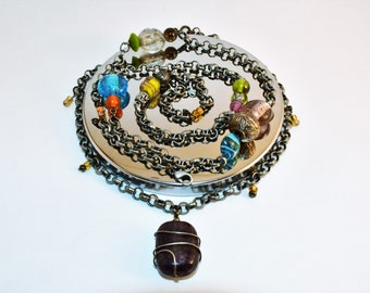 Industrial Necklace// Handmade necklace// One of a kind necklace// Double necklace// layered necklace// Wearable art// Statement necklace