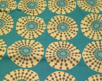 Sun Glow from Lark by Amy Butler for Free Spirit Fabrics - 1 7/8 Yard - Cotton Fabric / Fabric by Yard / Yellow Flowers on Turquoise