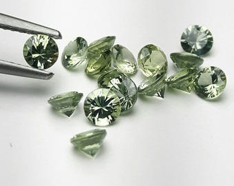 Natural 3.5mm round green Sapphire