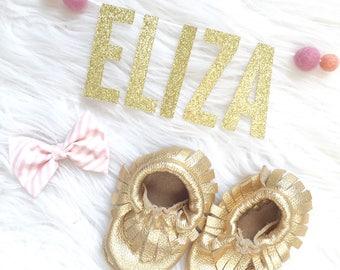 Personalized Bassinet Banner | Pink Blush Felt Balls | Baby Announcement | Gender Reveal | Pregnancy | Newborn Photography |Baby Shower Gift