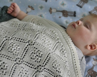 Knitting Pattern:  Sea of Dreams Baby Blanket  (PDF)