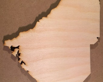 SC South Carolina Wood Cutouts - Shapes for Projects or Other Use