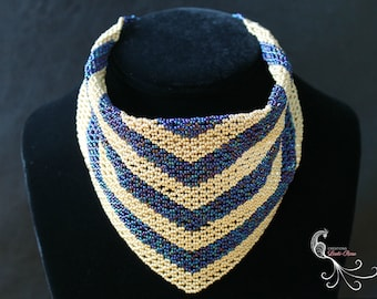 beaded scarf, beaded scarves, scarf necklace, scarf jewelry, seed bead necklace, seed bead jewelry, handmade scarf, unique scarves, beadwork