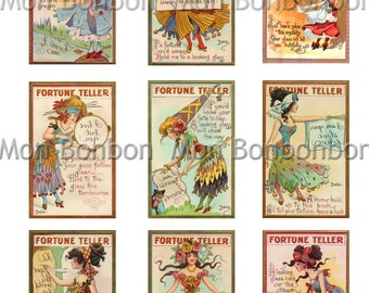 Vintage Fortune Teller - Gypsy Cards - Digital File - INSTANT DOWNLOAD