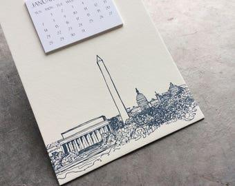 Washington D.C. Cityscape Postcard Calendar