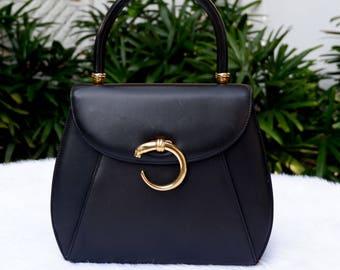 Vintage Cartier Panthere Classic Top Handle Bag