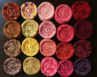 Bloom Handmade Studio Note Cards: Crocheted Circles in Gradient in Autumnal Array