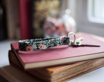 Rifle Paper Co. Rosa Floral Hunter Fabric Keychain - Menagerie Collection!