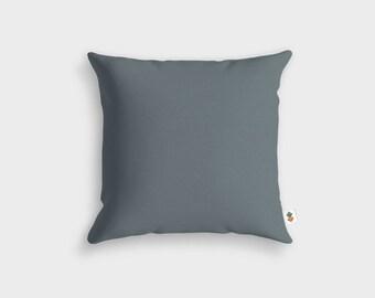 Basic CHARCOAL grey cushion - Made in France - 45 x 45 cm
