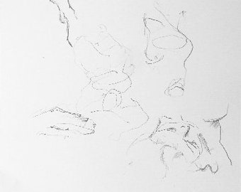 Sketch Study for Reclining Woman - A3 - Original Life Drawing