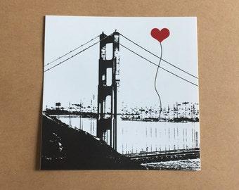 Golden Gate Bridge San Francisco Lover's sticker
