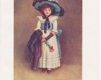 Vintage Kate Greenaway Book Plate Art Print - The Little Model