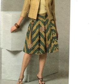 Vogue Designer Pattern 2894 OSCAR de la RENTA Jacket & Skirt Misses Sizes 20 22 24