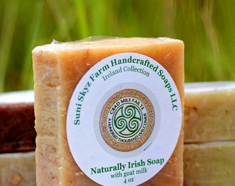 Naturally Irish Soap - Irish Soap - Lemon Soap - Spa Soap - Sweet Soap - Goat Milk Soap - Natural Soap - Handmade Soap - Suni Skyz Farm Soap