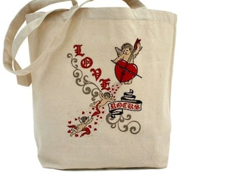 LOVE Rocks - Cotton Canvas Tote Bag