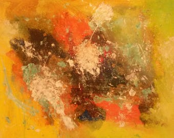 Abstract painting - Process