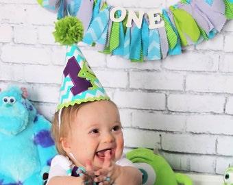 Monsters Inc. Birthday Party Decor - Monsters University Birthday Banner - Garland - Photoshoot Prop