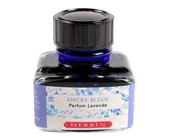 J. Herbin Blue Lavender Scented Fountain Pen Ink - 1 oz bottle