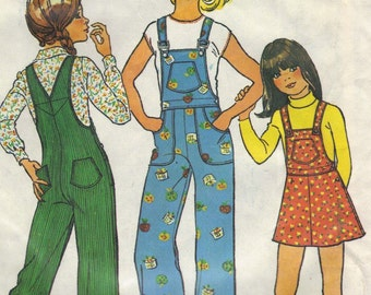 1970s Simplicity 7032 sewing pattern // girls' jumper and overalls